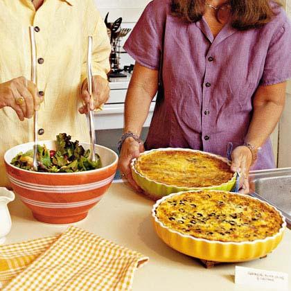 Chicken-Olive-Cheddar QuicheRecipe