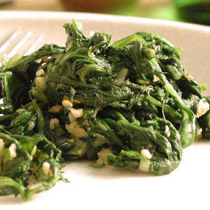 Seasoned SpinachRecipe