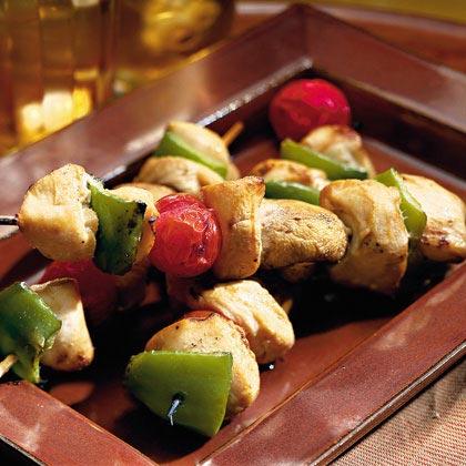 Chicken-Vegetable Kabobs