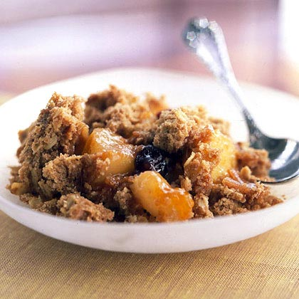 Pear, Apple, and Cherry Crumble