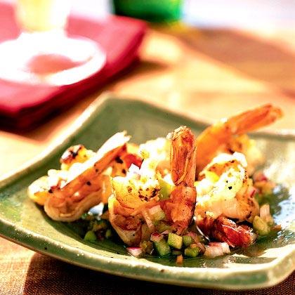 Butterflied Shrimp with Habanero Tomatillo Salsa Recipe