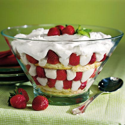 Strawberry-Sugar Biscuit Trifle