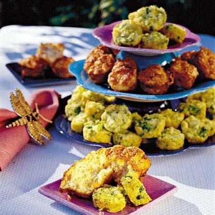 Ham-and-Cheddar Muffins