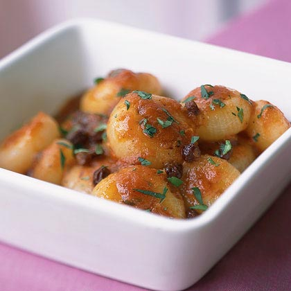 Ragout of Cipollini Onions with Tomato, Cinnamon, and Cumin