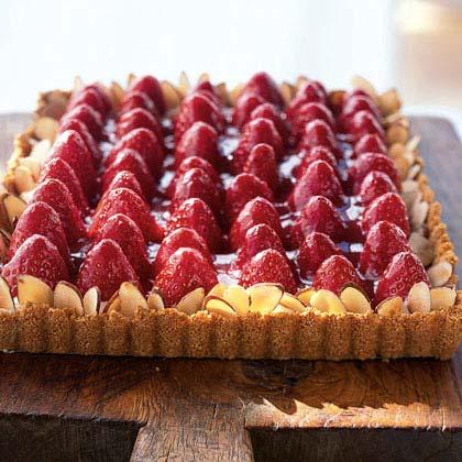 Strawberry-Almond Cream Tart