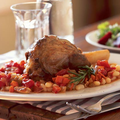 Lamb Shanks on Cannellini Beans
