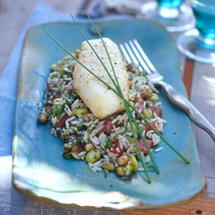 Baked Sheepshead on Hoppin' JohnRecipe