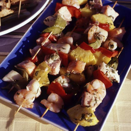 Tequila-Lime Seafood KebabsRecipe