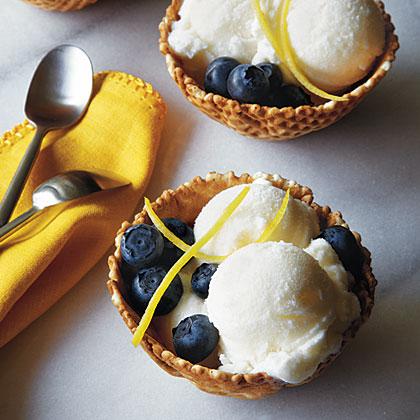Lemon-Buttermilk Ice Cream Recipe | MyRecipes