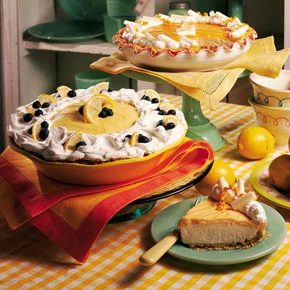 Lemon-Blueberry Cream PieRecipe