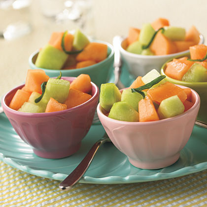 Spicy-Sweet Melon Salad