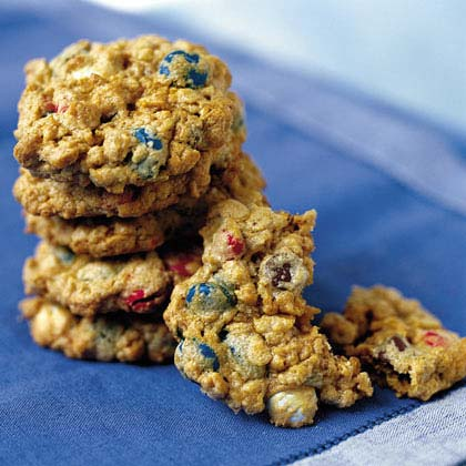 Chewy Red, White, and Blue CookiesRecipe