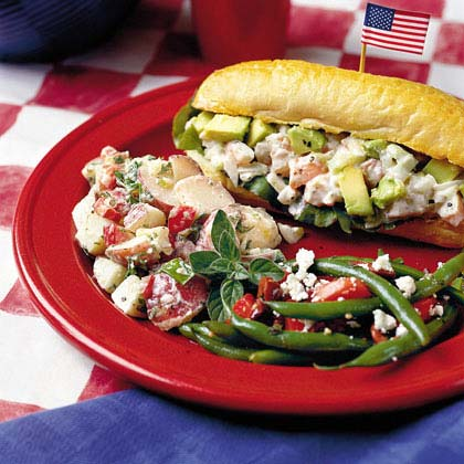 Marinated Green Beans with Tomatoes, Olives, and Feta