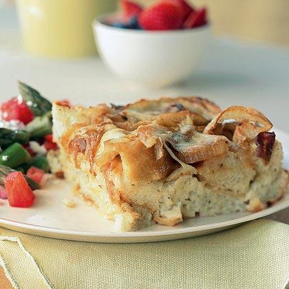 Onion Bread Pudding