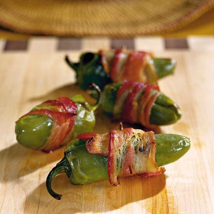 Three ingredients combine to make a must-try appetizer in minutes: shrimp, jalapeno peppers, and bacon. Combine, consume, and repeat as needed.Afterburners Recipe