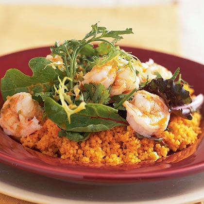 Ginger Shrimp with Carrot CouscousRecipe