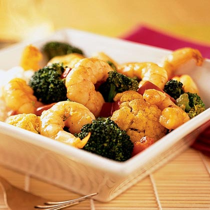Curried Coconut Shrimp Stir-Fry