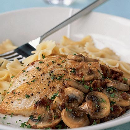 Chicken with Sun-Dried Tomato-Mushroom Sauce Recipe