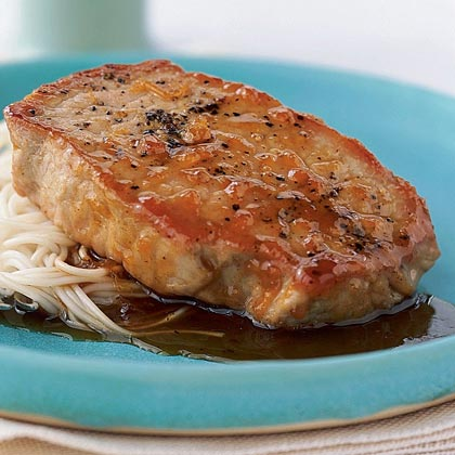Apricot-Hoisin Pork Chops with SomenRecipe