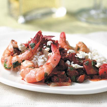 Shrimp with Feta