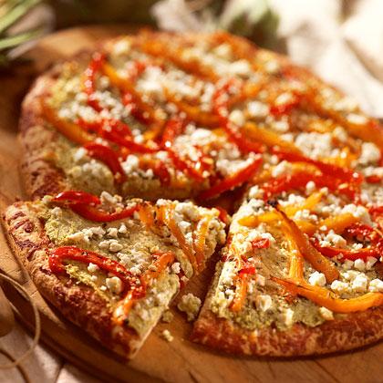 Artichoke-and-Red Pepper PizzaRecipe
