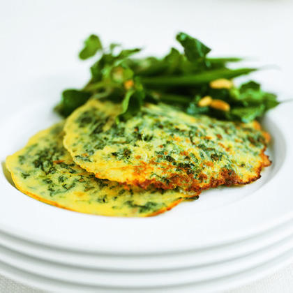 Asparagus-Spinach PancakesRecipe