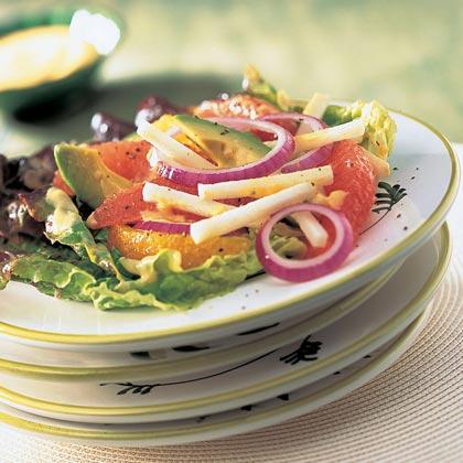 Avocado, Citrus, Jicama, and Persimmon Salad Recipe