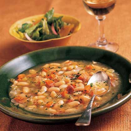 Tuscan White Bean Soup with Prosciutto