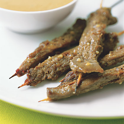 Beef Satay With Peanut Sauce