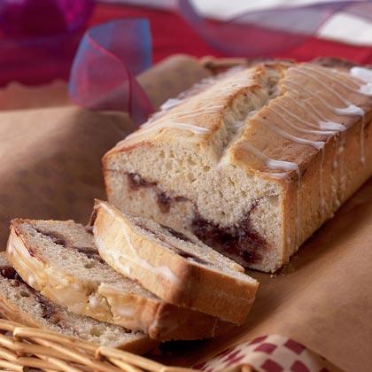 Sour Cream Raspberry Swirl Loaf