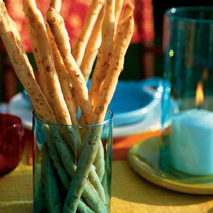 Spicy Peppercorn and Pecorino Breadsticks