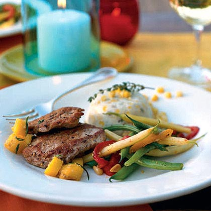 Pork Tenderloin with Fresh Mango Salsa