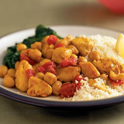 Curried Chicken and Chickpeas