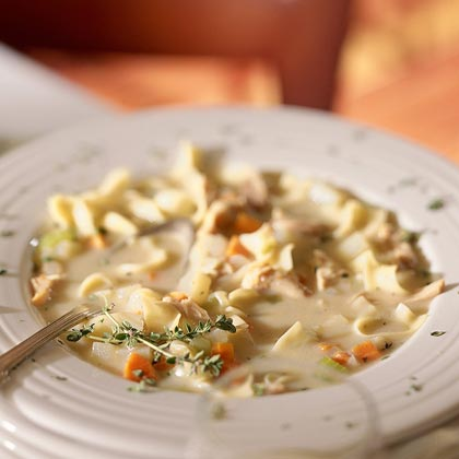 Roasted-Chicken Noodle Soup Recipe | MyRecipes