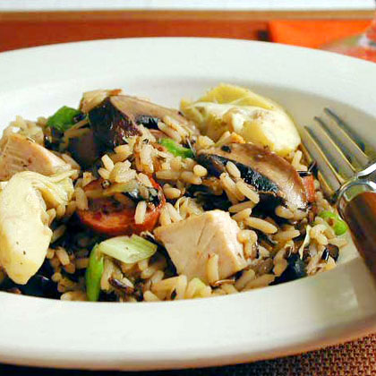 Chicken and Wild Rice with Smoked Sausage Recipe