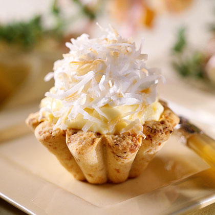 Coconut Cream Tarts with Macadamia Nut Crusts Recipe ...