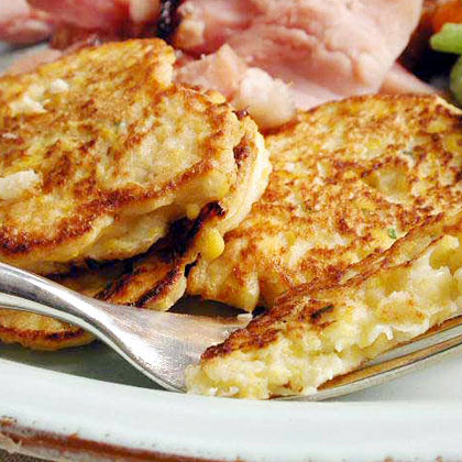 Corn and Parsnip CakesRecipe