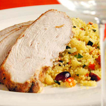 Moroccan Turkey with Cranberry Couscous