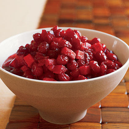 Cranberries with Apples and Brandy Recipe