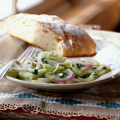 Cucumbers Vinaigrette