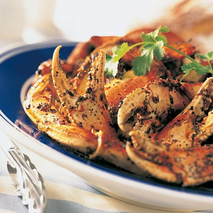 Black Pepper Dungeness Crab RecipeFresh Dungeness crabmeat is not everyday fare, but after you taste this dish, you'll want it to be. The crabmeat is marinated in a mixture of soy sauce, ginger, cilantro and honey–which is a nice departure from the usual white wine and lemon juice.