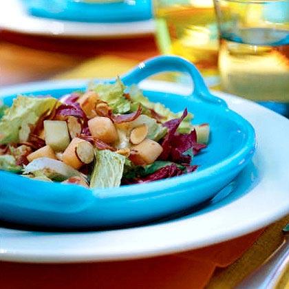 Escarole Salad with Melons and Crispy Prosciutto