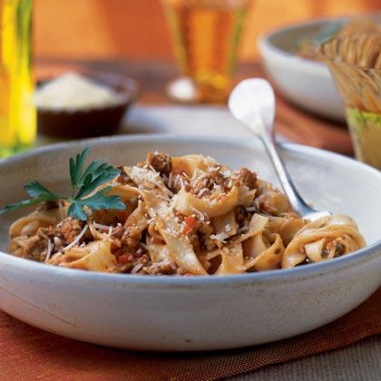 Ragù Alla Bolognese with Fettuccine Recipe | MyRecipes