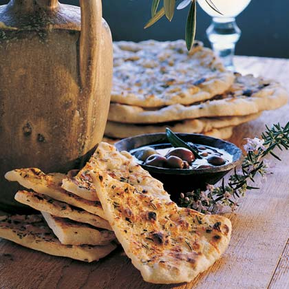 Grilled Rosemary Flatbreads Recipe
