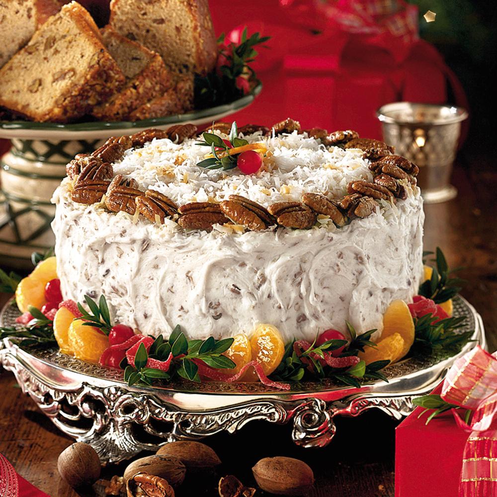 Fresh Orange Italian Cream Cake Recipe