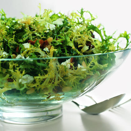 Frisée, Bacon, and Goat-Cheese Salad