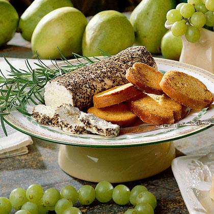Black Pepper-Goat Cheese Log Recipe