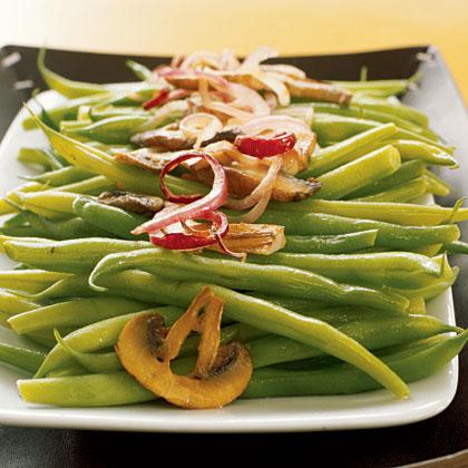 Sautéed Green Beans with Wild Mushrooms