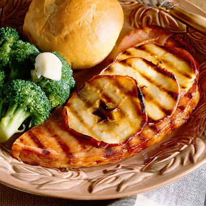 Grilled Ham and ApplesRecipe