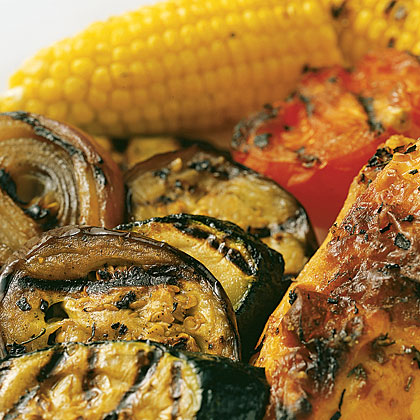 Grilled Summer Vegetables and Corn Recipe